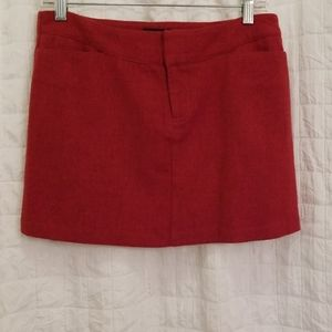 American Eagle Outfitters Burnt Red Mini Skirt